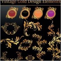 Link toEuropean gold pattern 01 vector