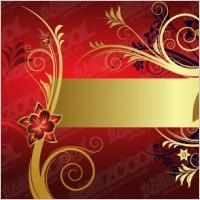 Link toEuropean gorgeous golden flower pattern vector