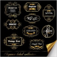 Link toEuropean gorgeous pattern of label 01 vector