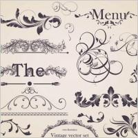Link toEuropean gorgeous restaurant menu pattern vector 1