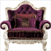 Link toEuropean gorgeous sofa single seat beautifully carved pattern