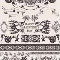 Link toEuropean gorgeous valentine day theme classic lace pattern vector