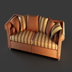 Link toEuropean leather sofa cushions household 3d models