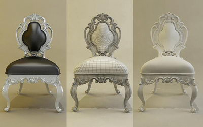 Link toEuropean luxury chair 3d model