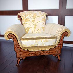Link toEuropean luxury single sofa chair 3d model