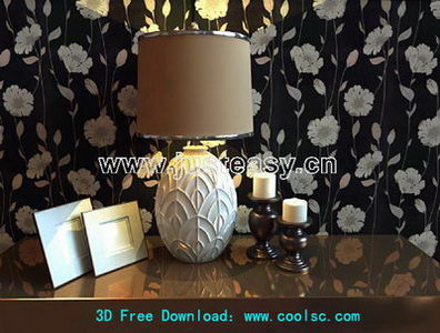 Link toEuropean luxury table lamp 3d model (including materials)