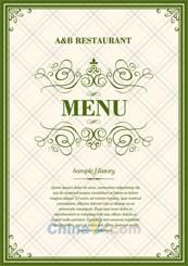 Link toEuropean menu template vector
