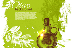 European olive oil background vector