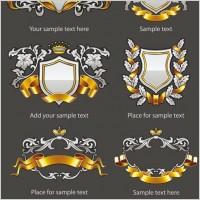 Link toEuropean pattern badge 01 vector