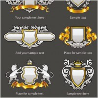 Link toEuropean pattern badge 02 vector