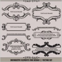 Link toEuropean pattern garland 01 vector