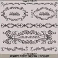 Link toEuropean pattern garland 03 vector
