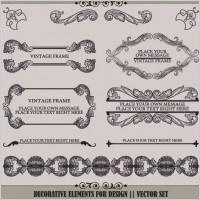 Link toEuropean pattern garland 04 vector
