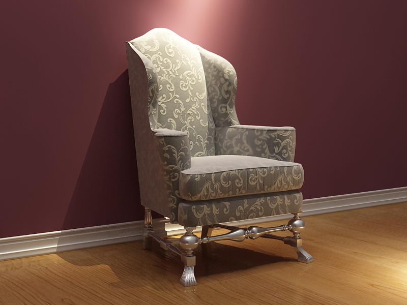 Link toEuropean pattern leisure chair 3d model (including materials)