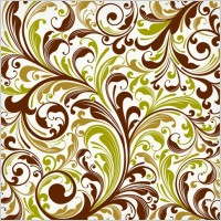 Link toEuropean plant pattern background vector 2