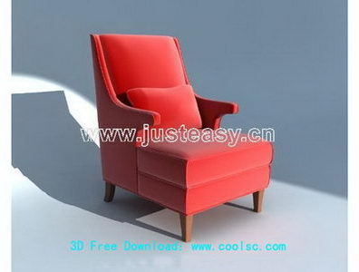 Link toEuropean red chair 3d model (including materials)