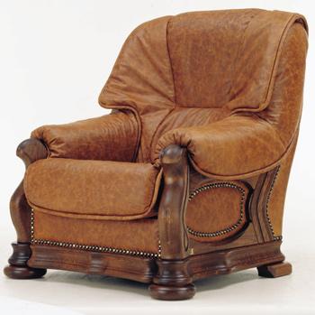 Link toEuropean retro dark leather single sofa 3d model