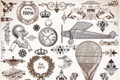 Link toEuropean retro design elements vector