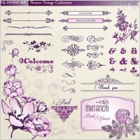 Link toEuropean retro floral lace pattern vector 1
