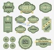 Link toEuropean retro label vector design