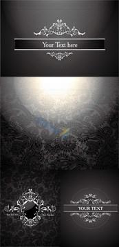 Link toEuropean retro pattern background vector