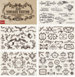 Link toEuropean retro patterned lace vector