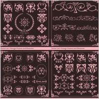 Link toEuropean retro patterns vector