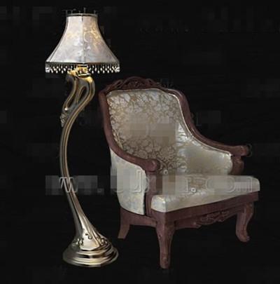 Link toEuropean retro single sofa chair 3d model