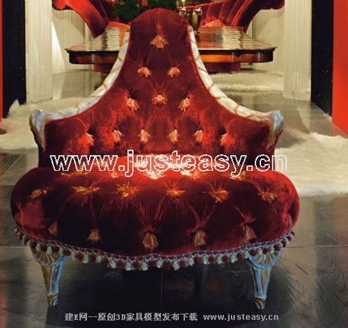 Link toEuropean single sofa 3d model (including materials)
