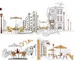 Link toEuropean street cafe vector