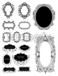 Link toEuropean-style black and white borders vector