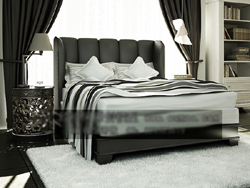 Link toEuropean-style boutique bed together 3d models (including materials)