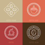 Link toEuropean-style coffee element icons vector