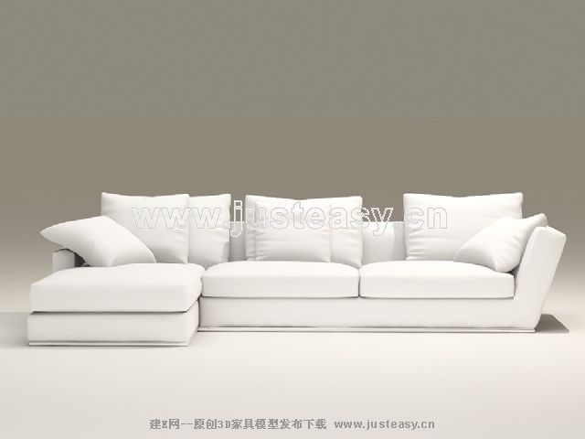 Link toEuropean-style combination of white and elegant sofa 3d model