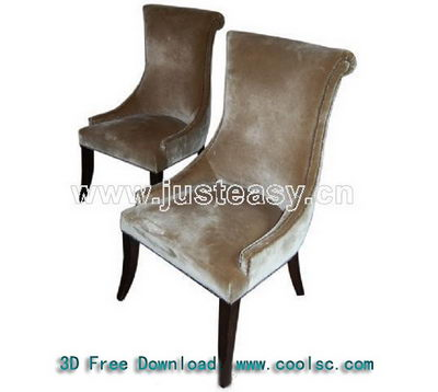 Link toEuropean-style dark-colored soft sofa chair 3d model
