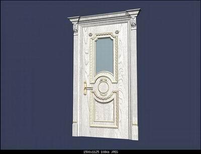 Link toEuropean style doors b 3d model