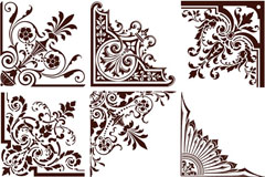 Link toEuropean-style elegance frame of the pattern vector