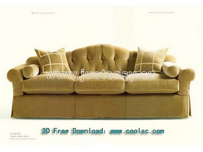 Link toEuropean style fashion soft sofa 3d model