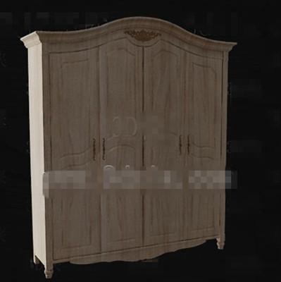 Link toEuropean style full-wood wardrobe 3d model