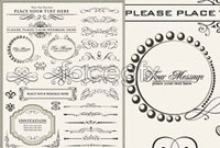 Link toEuropean-style lace border vector ii