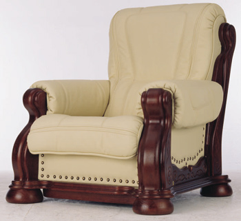 Link toEuropean-style leather armchair 3d model