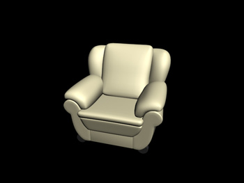 Link toEuropean-style leather single sofa 3d model