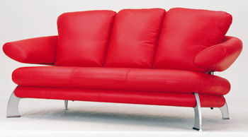 Link toEuropean-style modern red  three seats sofa 3d model