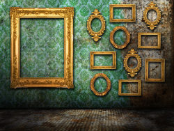 Link toEuropean-style photo frames on the wall picture material-3