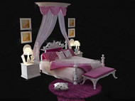 Link toEuropean style pink and white bed 3d model