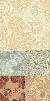 Link toEuropean-style retro floral background vector