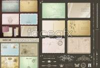 Link toEuropean-style retro vintage postcards vector