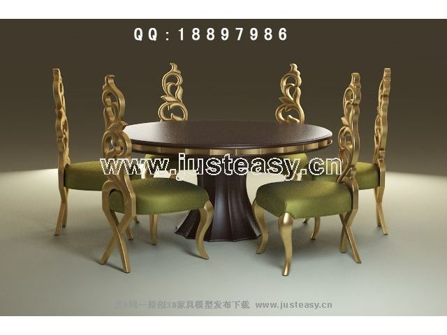 Link toEuropean-style round tables and chairs 3d model (including materials)