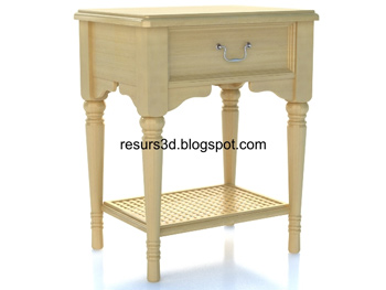 Link toEuropean-style simple cabinet 3d model