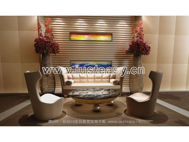 Link toEuropean-style tables and chairs personalized leather portfolio 3d model